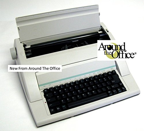 Portable Typewriter by Around The Office, w/Dust Cover, Plus 2 Ribbons
