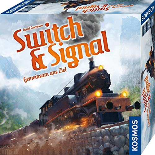 KOSMOS 694265 Switch & Signal, Gemeinsam ans Ziel, kooperatives Eisenbahn-Spiel für 2 - 4 Spieler, ab 10 Jahre, Gesellschaftsspiel mit einfachen Regeln