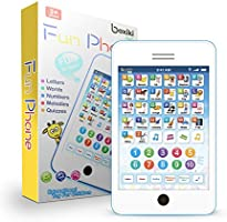Learning Pad / Fun Phone with 6 Toddler Learning Games. Touch and Learn Interactive Tablet for Numbers, ABC and Words...