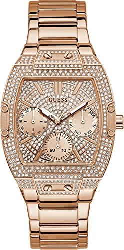 Guess Reloj de pulsera para mujer RAVEN con correa de acero inoxidable GW0104L3