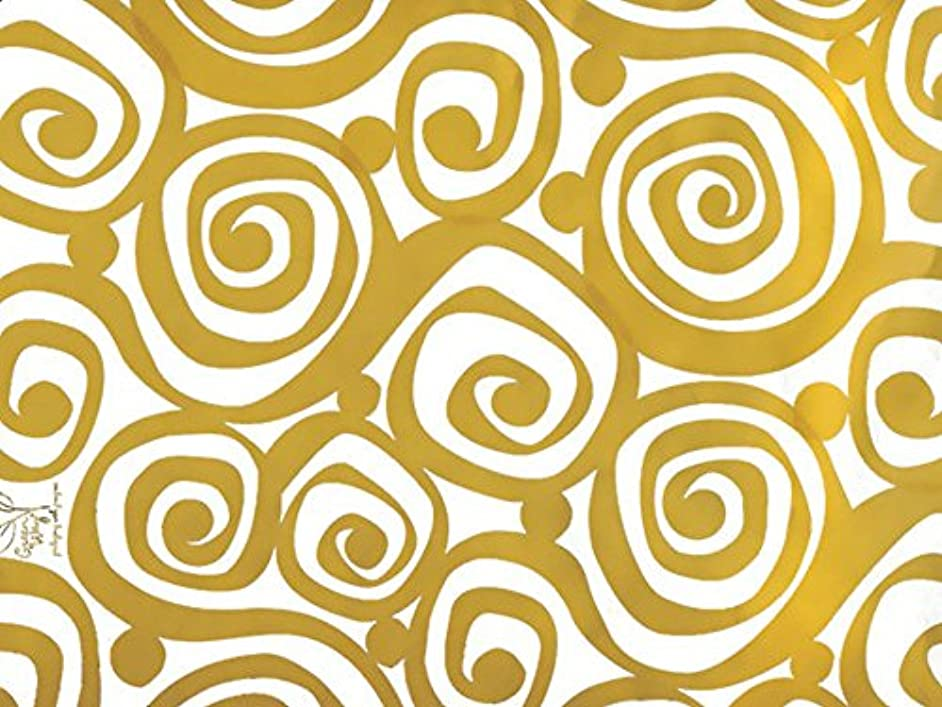 Metallic Gold and White Scroll Wedding Wrap Wrapping Paper 15 Foot Roll