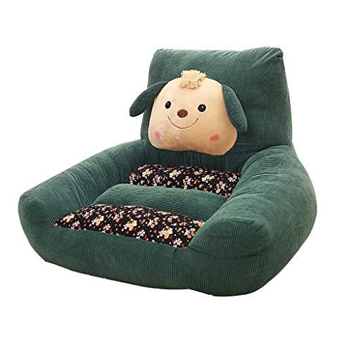 Animal Sofa De enfants, Douillet Et Moelleux Canapé Garçon Fille Accoudoir Chaise Mini Pouf Poire 7 Couleurs (Color : Dark green)