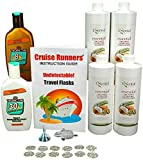 Fake Shampoo & Conditioner Sunscreen Bottle Flasks for Cruise Hide Liquor Enjoy Rum Runners Booze by CRUISE RUNNERS® Sneak Alcohol Smuggle Flask Kit on Cruises