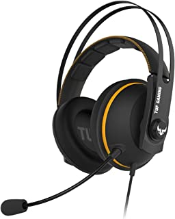 TUF Gaming H7 Core PC and PS4 gaming headset, upgraded ear cushions for eyewear comfort (Yellow)