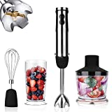 KOIOS Powerful 800W 4-in-1 Hand Immersion Blender 12 Speeds, Includes 304 Stainless Steel Stick...