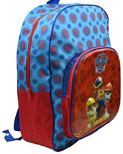 Mochila Patrulla Canina en 3D- Infantil para niñas y niños 43cmx35cm (Azul)