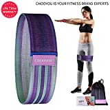 CHOOYOU Resistance Bands, Non Slip Hip Exercise Fitness Bands with Soft Fabric for Booty, Workout Bands for Women & Man for Legs,Squats,Butt,Glute (Gradient)