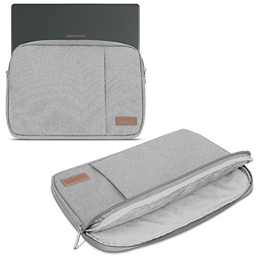 Sleeve Tasche kompatibel für Medion Akoya E4271 E4272 Hülle Schutzhülle Cover Notebook Schutz Case, Farbe:Grau (Grey)