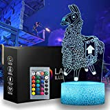Battle Royale 3D Llama Night Light - 16 Color Change Decor Lamp with Remote & Smart Touch, Christmas and Birthday Gifts for Battle Royale Fortnit Fans