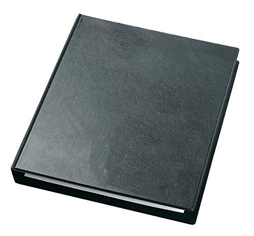 Veloflex 4130280 Ringbuch Exclusiv A3, Ordner, Hefter, Ringordner, Hochformat, Lederoptik, schwarz