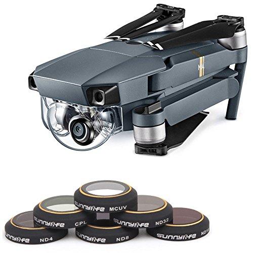 Fdrone MMRC-UV MRC-CPL ND4 ND8 ND16 ND32 Camera Lens HD Filters for DJI Mavic Pro Drone Camera RC Parts Black