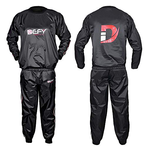 DEFY Heavy Duty Sauna Sweat Suit Exercise Training Gym Suit Fitness Weight Loss AntiRip New Large