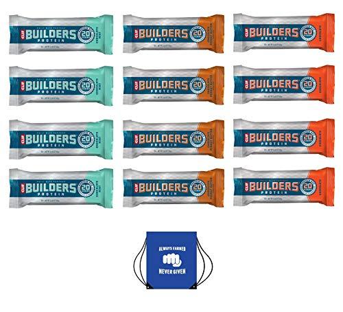 Clif Builders Bar – Caja de 12 (3 sabores diferentes),