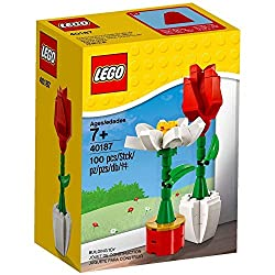 LEGO flowers Valentine gift ideas. LEGO rose and daisy.