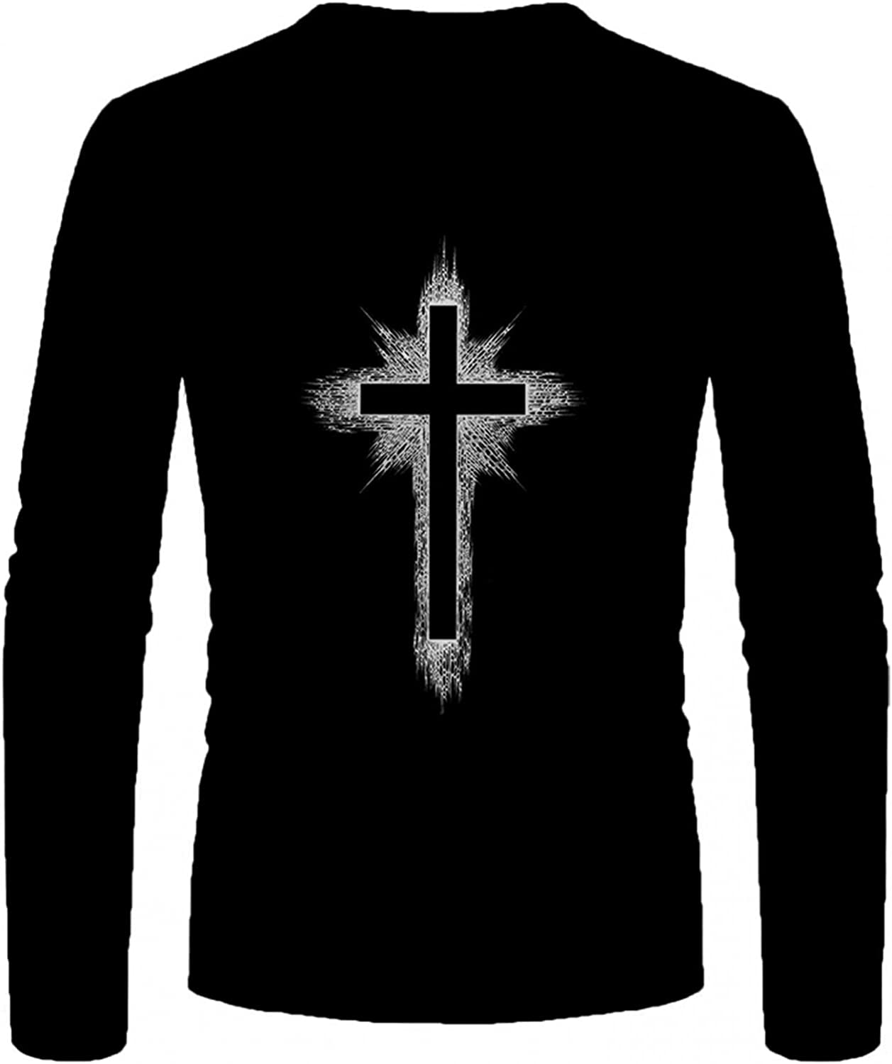 Aayomet Tee Shirts for Men Fashion Graphic Printed Tops Casual Athletic Cozy Long Sleeve Pullover Shirts