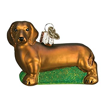 Old World Christmas Dog Collection Glass Blown Ornaments for Christmas Tree Dachshund Model 12219