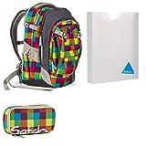 satch Match by Ergobag Beach Leach 2.0 3-teiliges Set Rucksack, Schlamperbox & Styler-Box