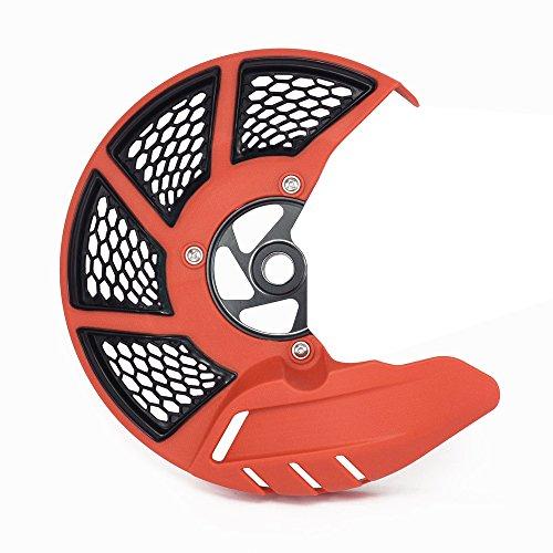 JFG Racing Moto Frein à disque avant Garde Coque de protection pour K.T.M 125-530 SX SXF XC XCF 15-17 EXC EXCF 16-17 Husqvarna TC FC 125-450 15-17 TE FE 125-501 16-17 TX FX 125-450 17 Orange