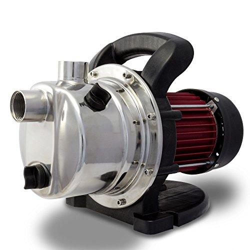 Berlan Pompa da giardino BGP800E pompa da superficie elettropompa centrifuga per irrigazione per convogliare acque limpide e pompare acqua piovana e di pozzi - 800 watt 230 volt 3200 l/h 40 m