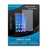SWIDO Schutzfolie für Huawei Honor 3C [2 Stück] Kristall-Klar, Hoher Festigkeitgrad, Schutz vor Öl, Staub & Kratzer/Glasfolie, Bildschirmschutz, Bildschirmschutzfolie, Panzerglas-Folie