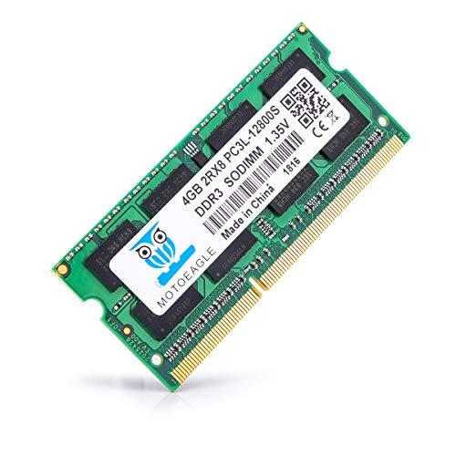 motoeagle DDR3L 1600MHz 4GB SODIMM PC3L-12800S Unbuffered Non-ECC 1.35V CL11 2Rx8 204-Pin PC3-12800 Memoria Laptop