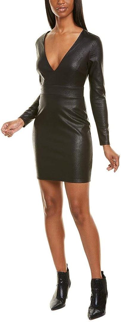 bebe Printed Scuba Slim Dress