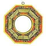 Pssopp Espejo Bagua, Vintage Feng Shui Chino Espejo 4in-6in Espejo cóncavo Convexo FengShui Taoísta Instrumento Mascota Budismo Taoísta Espejo Protección Afortunado(4# Cóncavo)