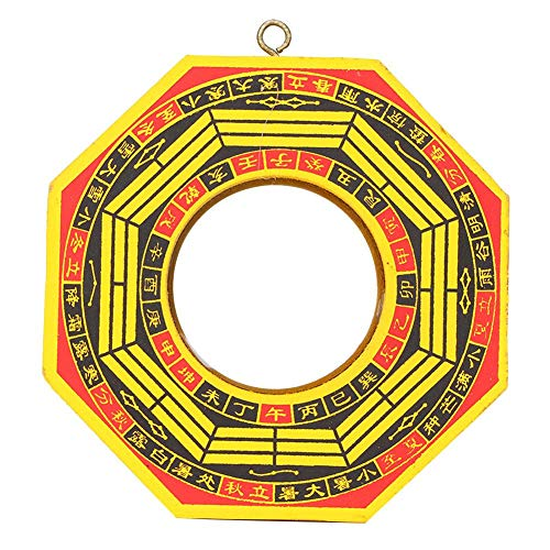 Pssopp Specchio Bagua, Specchio Cinese Vintage Feng Shui 4in-6in Specchio concavo Convesso FengShui Strumento taoista Mascotte Buddismo Protezione taoista Specchio Fortunato(#2)