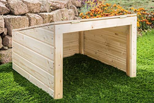 Mähroboter Garage aus Holz - Carport für Rasenroboter