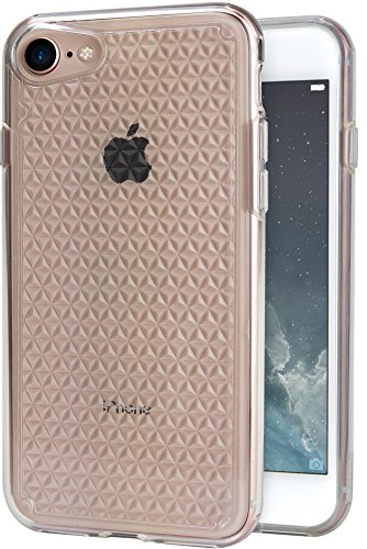Smartish iPhone 7 Clear Case - PureView for iPhone 7 [Ultra Slim Fit Pattern Cover] (Silk) - Crystal Clear