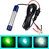Underwater Fishing Light Lure Bait Light Finder Night Light Boat Submersible Deep Drop Underwater Light 180 LED Lamp 12V-24V with Battery Clip and Power Plug Light for Shrimp Prawns Squid and Fish