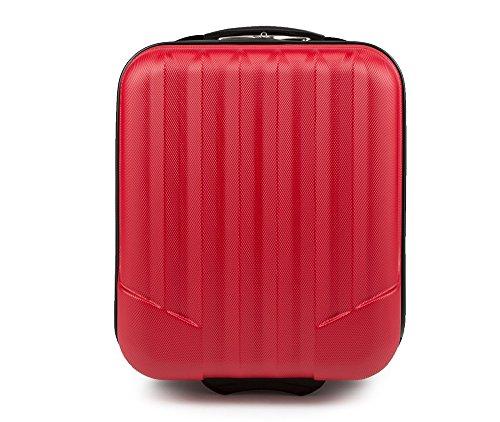 WITTCHEN Reisekoffer Trolley 17 Koffer Bordgepäck Handgepäck Rot Abmessungen: 32 x 25 x 42 cm Kapazität: 25 L Gewicht: 2 KG ABS V25-10-232-35