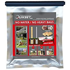 The Q700 is ONLY 1.5 LBS but equates to (2) 55 LB BAG OF CONCRETE! Easy to use. Mix, Pour and Done - No Fuss - No Mess! That's why we call it 15MinuteConcrete! 300x's Lighter then Concrete - 100x's Faster then Traditional Methods of Concrete Installa...
