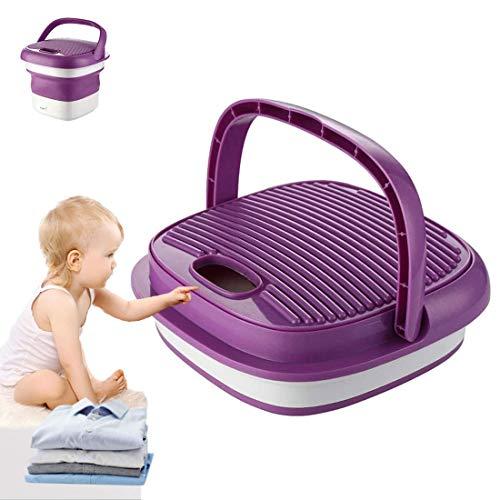 ZFHNY Mini lavadoras Plegables Limpieza ultrasónica portátil con ozono Lavadora automática compacta Recargable por USB,práctica turbina pequeña y práctica para el hogar Camping Viajes de Negocios