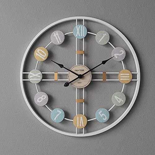 HAOLY Creativo Reloj,Nordic Moderno Inicio Mute Reloj De Pared,Ambiente Sala De Estar Simple Personalidad Tendencia Arte Relojes-d Diámetro50cm(20inch)