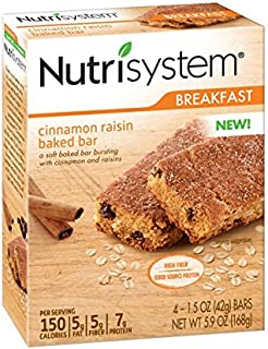 Nutrisystem® Morning Mindset® Cinnamon Raisin Baked Bars, 24 ct