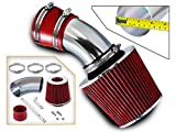 Rtunes Racing Short Ram Air Intake Kit + Filter Combo RED For 98-05 BMW E46 3-Series