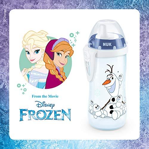 NUK Disney Frozen Kiddy Cup, Tazza con Beccuccio Rigido a Prova di Perdite senza BPA per Bambini dai 12 Mesi, 300 ml, Olaf