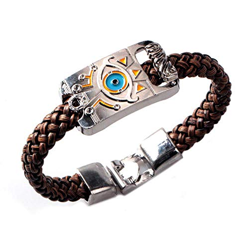 EU_LevinArt The Legend of Zelda Breath of the Wild logo collection Gothic Punk Bracelet PU leather Bracelet silver color accessories jewelry