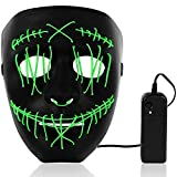 SZILBZ LED Purge Maske, Halloween LED Mask mit 3 Blitzmodi für Party Halloween Fasching Karneval...