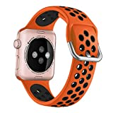 YPSNH Compatibile per Cinturino Apple Watch 38mm 40mm 42mm 44mm Cinturino Sportivo di Ricambio Traspirante Bicolore in Silicone Morbido per iWatch Series 6/5/4/3/2/1/SE per Donna Uomo