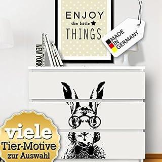 pourGrandora W5247 Sticker Mural Manga Fille adapt/é aux IKEA HEMNES et Malm Commode 63 x 52 cm Noir