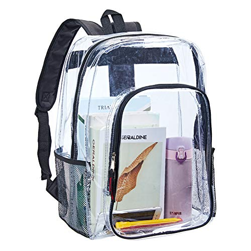 Clear Transparent Backpack, Heavy Duty Multi-pockets Bookbag, Clear PVC See Through Outdoor...