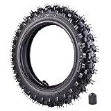 Neumático Knobby de 2,5 x 25,4 cm delantero o trasero con tubo interior TR87 para motocicleta...