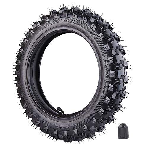 Neumático Knobby de 2,5 x 25,4 cm delantero o trasero con tubo interior TR87 para motocicleta todoterreno Motocross Mini Dirt Bike XR50 CRF50 PW50 SDG107 50SX Morini Razor SX500