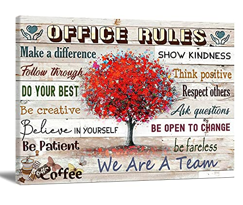 Motivational Wall Art For Office Inspirational Quotes Wall Art Teamwork Poster Contemporary Canvas Prints Painting Home Office Decor For Bedroom Living Room 24X16 Inch No Frame