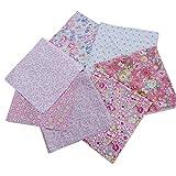 weilifang 7pcs / Set la Tela de algodón para Coser Quilting Patchwork Inicio 7pcs de Coser de la Materia Textil Rosada Tilda Serie de la muñeca de Tela Cuerpo