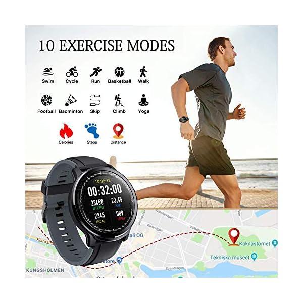 Smartwatch,Reloj Inteligente con Pulsómetro,Calorías,Cronómetros,Monitor de Sueño,Podómetro Pulsera Actividad… 6
