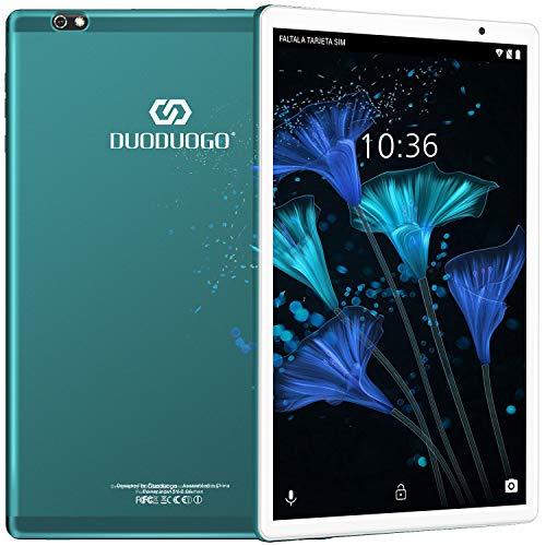 Tablet 10.1 Pulgadas Android 10 Quad Core, Certificación Google GMS 4 GB RAM 64GB 128GB ROM 8000mAh Tablet Dual SIM Tablet 10 Pulgadas Baratas y Buenas,IPS, 5+8 MP, Disney +, Netfilix