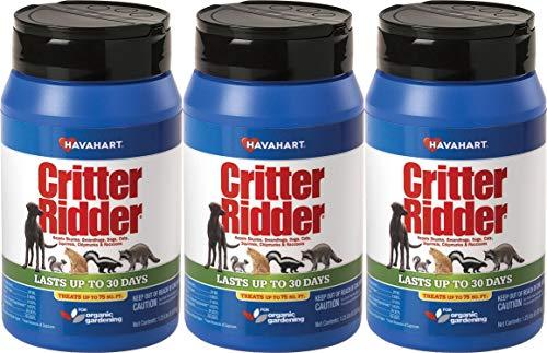 Havahart Critter Ridder 3141 Animal Repellent, 1.25 Pound Granular Shaker (3 Pack)